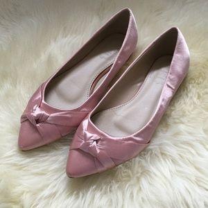 NWOT Pink Shimmery Ballerina Flats Sz 6.5